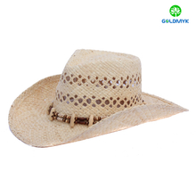 Supplier Adult natural raffia Straw Cowboy Hat