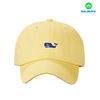 Six panel simple unstructured baseball cap