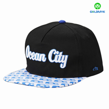 wholesale Contrast color 3D Embroidery 6 Panel Custom Snapback cap