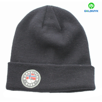 Promotional mens Gift Use knitted hat Wholesale design your own pom pom winter hat