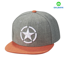 Custom 3D Embroidery 6 Panel Snapback Cap Wholesale