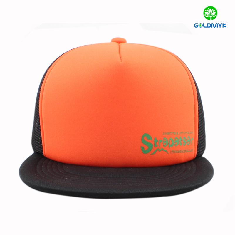 Printed mesh snapback cap