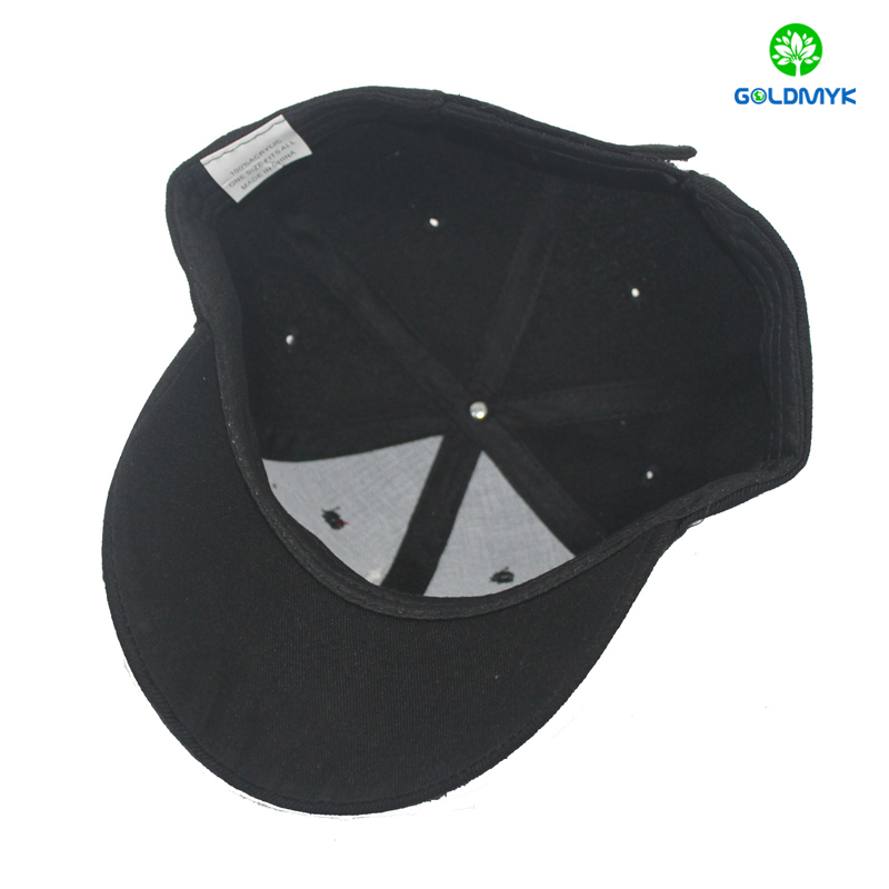 Custom Black Canada Maple embroidery sport cap