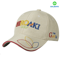 Custom flat embroidery logo canvas sandwich baseball Cap