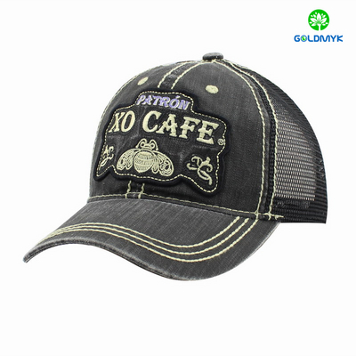 Custom embroidery 6 Panel demin fabric trucker cap