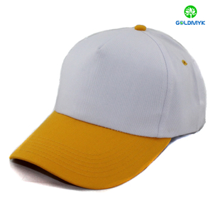 Two Tone 5 panels Blank cotton cap for promotion