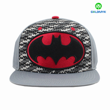 Cotton fabric custom flat embroidery snapback cap