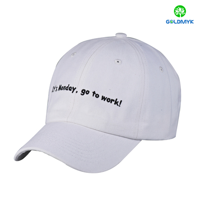 Custom small logo embroidery 100% cotton twill baseball Cap