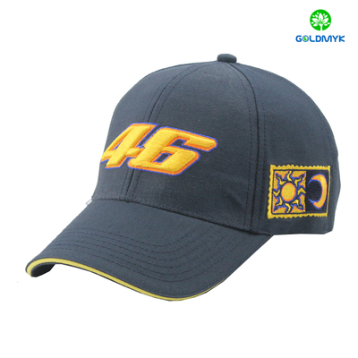 Promotional 6 Panels Cotton Plain Color Costom Sports baseball cap