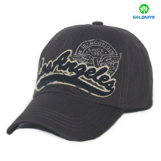 Custom Cotton Printing and Patch Embroidery plain color baseball cap