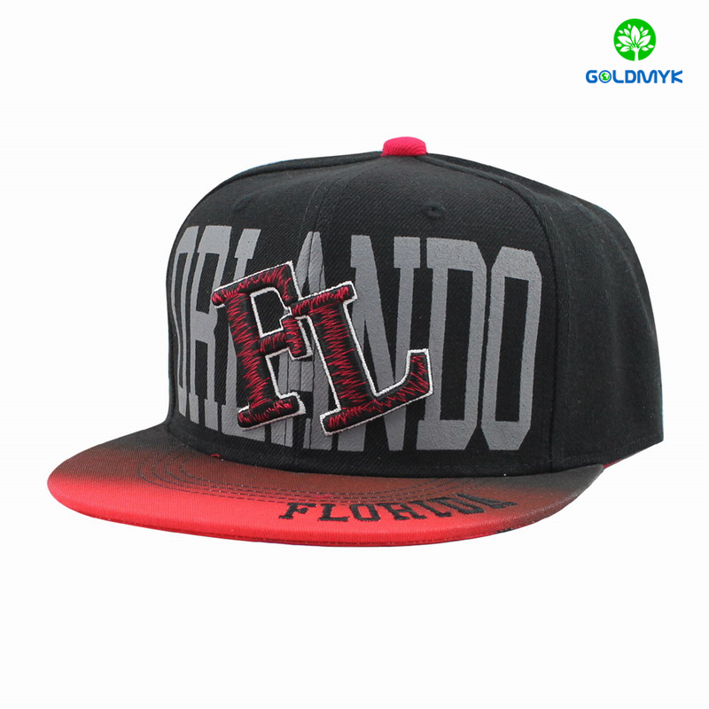 Printing 3D embroidery snapback cap