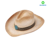 Manufacture High Quality Raffia Straw Cowboy Hat For Men