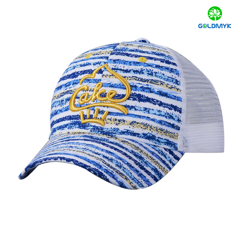 Custom embroidery 6 Panel canvas fabric trucker cap