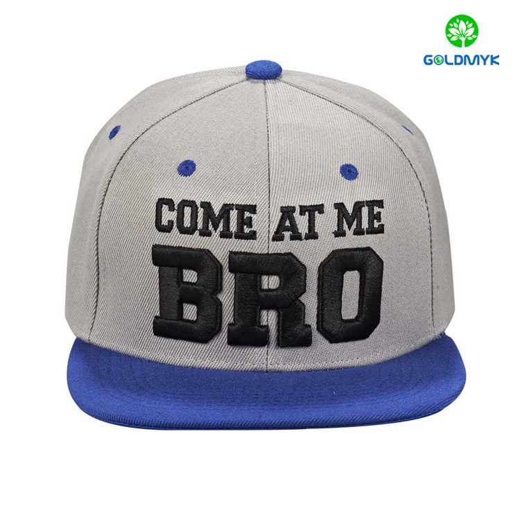 Custom 3D embroidery 6 panels acrylic snapback manufacturer