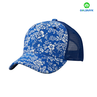 Custom printing 6 Panel trucker mesh cap wholesale