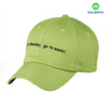 Six panel embroidery design cotton twill custom baseball cap