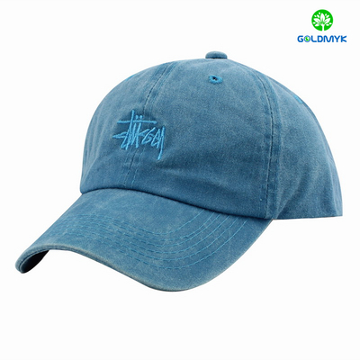 Unstructed Low Prifle flat embroidery Washed polo twill cap