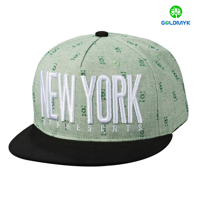 203879282b2 Wholesale 3D embroidery 6 panels Flat Bill Cap from China ...