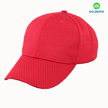 100% Polyester Red mesh six panels cap without logo