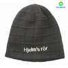 Stylish warm oversize winter beanie knit hat, cable knit chunky ski skull cap