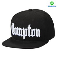 3D embroidered six panel snapback cap