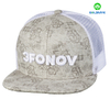 Wholesale plain color 3D embroidery 6 Panel Custom mesh Snapback cap