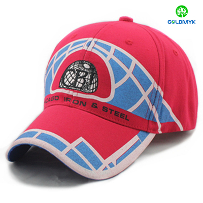 Custom 100% Cotton Printing Six panels baseball cap