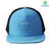 Custom rubber printing 100% Polyester 5 panel mesh snapback hats