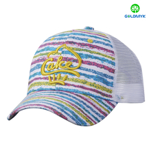 Fashion colorful material trucker mesh cap with 3D embroidery