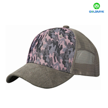 100% polyester 6 Panel blank trucker cap