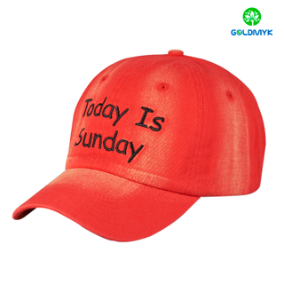 Embroidery cotton 6 panel custom baseball cap
