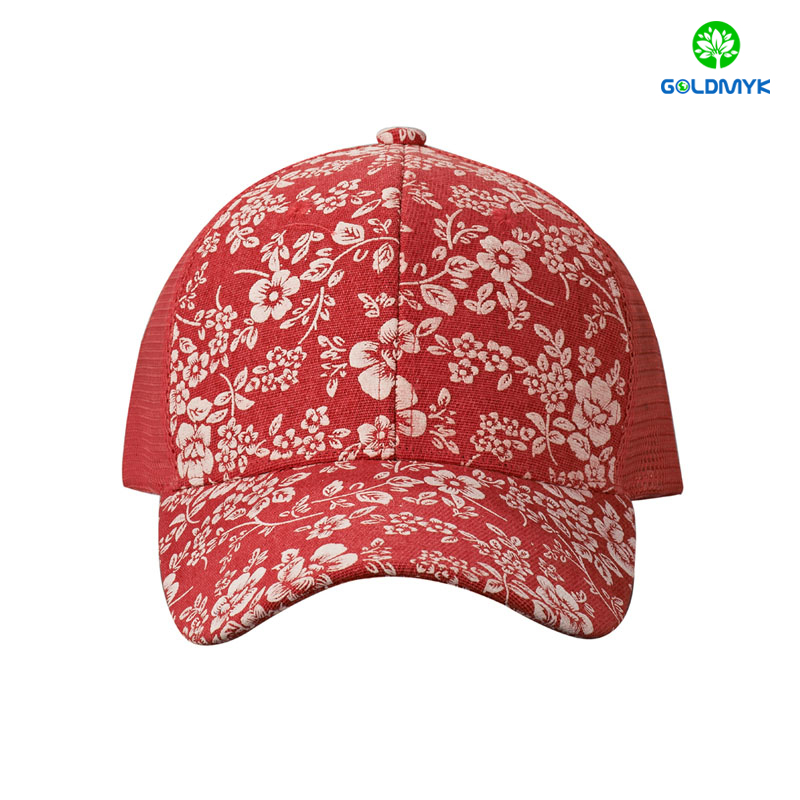 Fashion design custom printing 6 Panel trucker cap