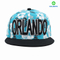 Manufacture Cotton Printing fabric snapback Hat with 3D embroidery