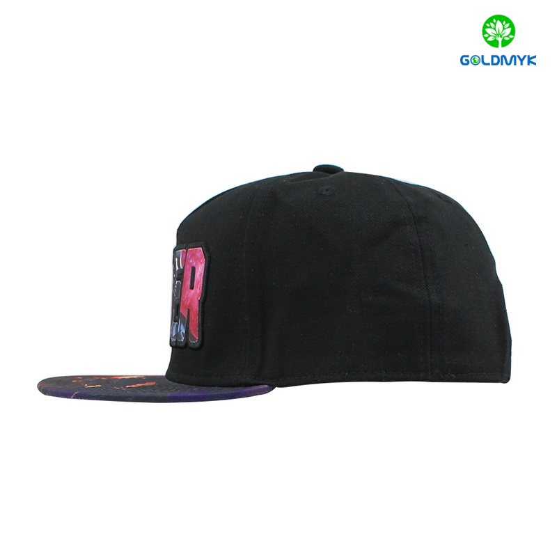 Sublimation Patch embroidery cotton 5 panels flat bill cap