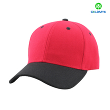 Blank red and black combination acrylic six panel baseball cap