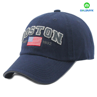 Sandwich cotton baseball cap with felt patch logo