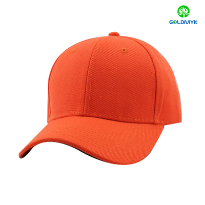Bright orange acrylic six panel sports cap