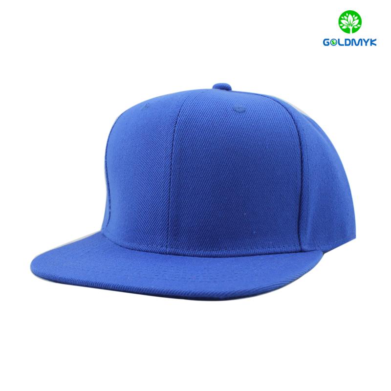 Acrylic blank royal blue snapback cap