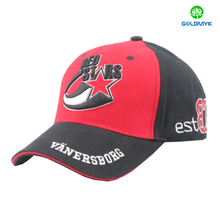 Six panel brushed cotton sandwich baseball cap with high quality embroidery