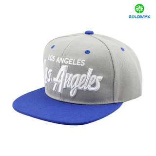 Acrylic snapback cap with 3D embroidery on front