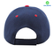Navy blue and red acrylic blank baseball cap