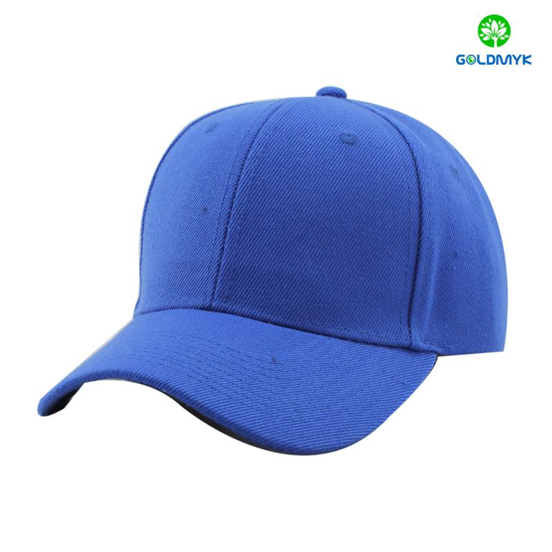 100% Acrylic blank sport cap in royal blue color
