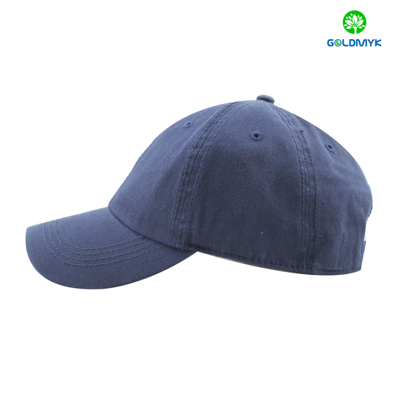 100% cotton blank navy color washed baseball cap