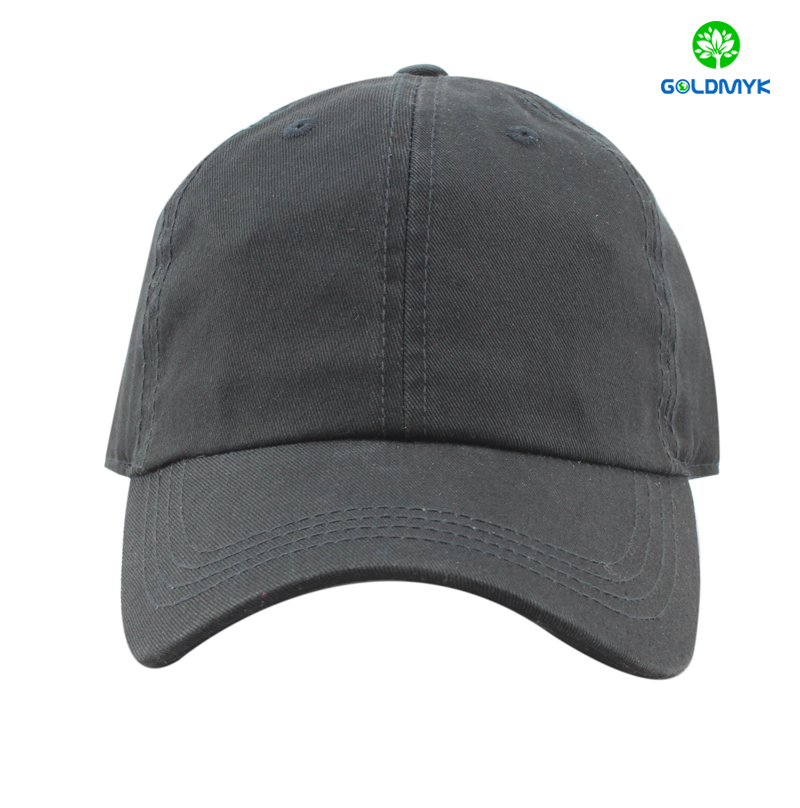 100% cotton blank black baseball cap