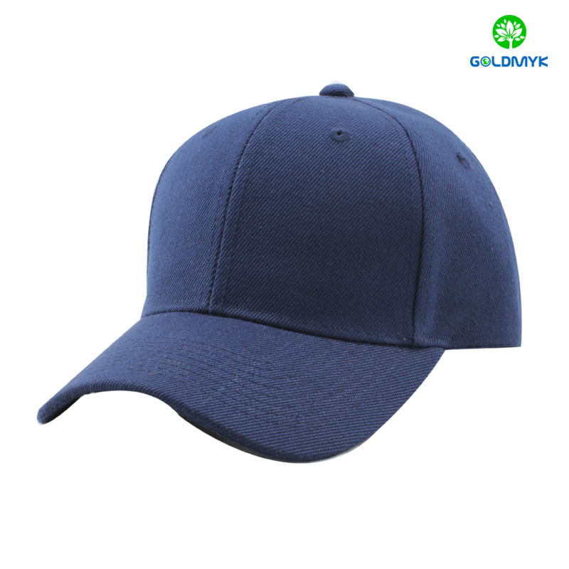 Navy Blue Blank Acrylic Baseball Cap From China