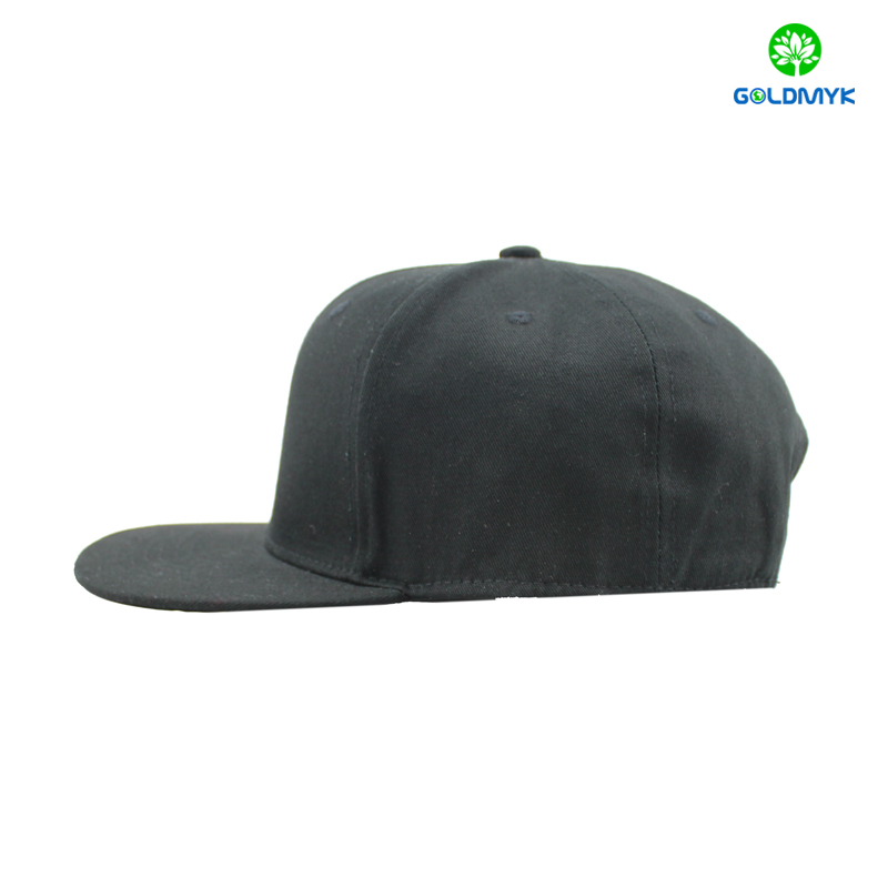 Cotton snapback cap without logo