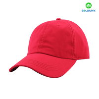 100% cotton blank washed baseball cap with thick stitching