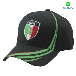 Joint printing baseball cap with patch embroidery logo