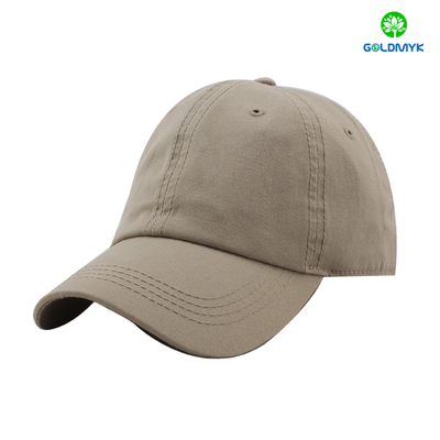 100% cotton blank gray baseball cap with thick stitching