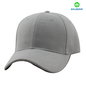 100% acrylic light grey baseball cap without logo